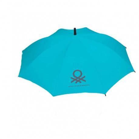 parapluie benetton pliant automatique 3 sections bleu azur achat vente parapluie. Black Bedroom Furniture Sets. Home Design Ideas