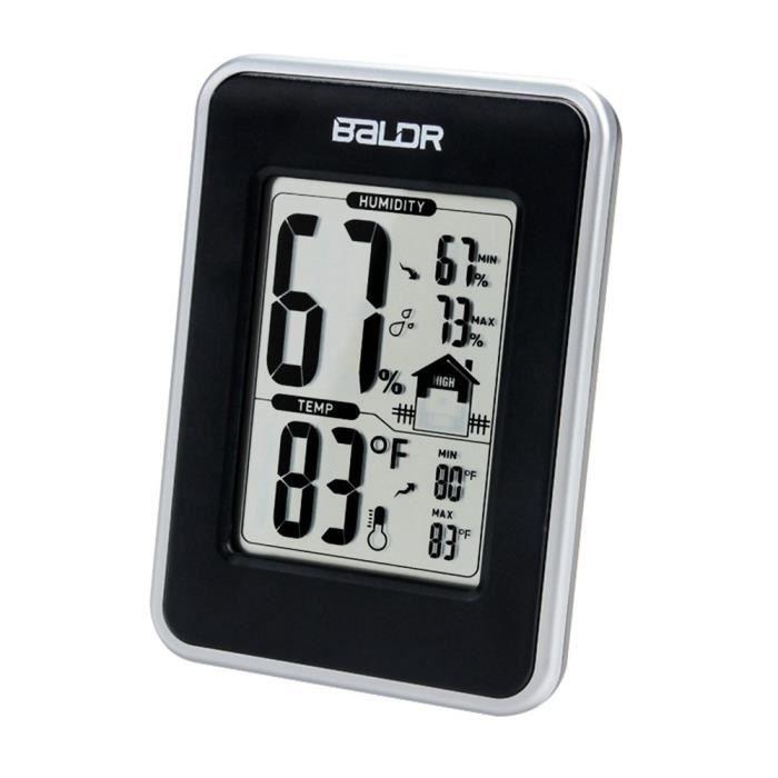 Humidit temp rature num rique horloge thermom tre hygrom tre fl che tendance - Temperature minimum maison ...