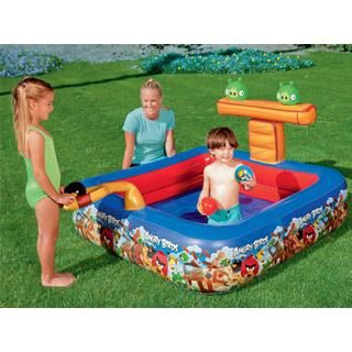 Piscine gonflable autoportante bestway angry birds achat vente piscine go - Piscine gonflable carre ...