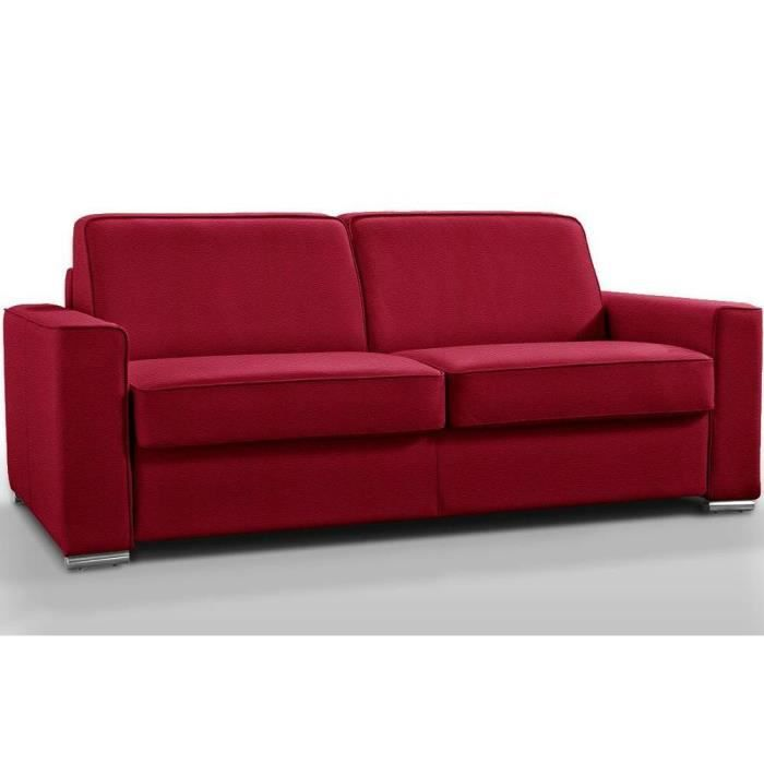 canap convertible rapido premium 140 cm cuir co rouge. Black Bedroom Furniture Sets. Home Design Ideas
