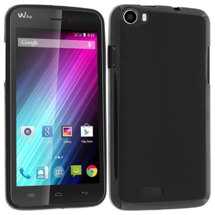 Coque etui housse silicone gel wiko lenny 2 noir for Housse wiko lenny 4