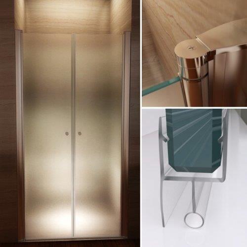 porte de douche 72 76cm en verre de s curit achat vente cabine de douche porte de douche. Black Bedroom Furniture Sets. Home Design Ideas