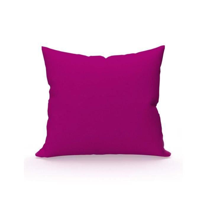 taie d 39 oreiller coton uni cassis soleil d 39 ocre taie d. Black Bedroom Furniture Sets. Home Design Ideas