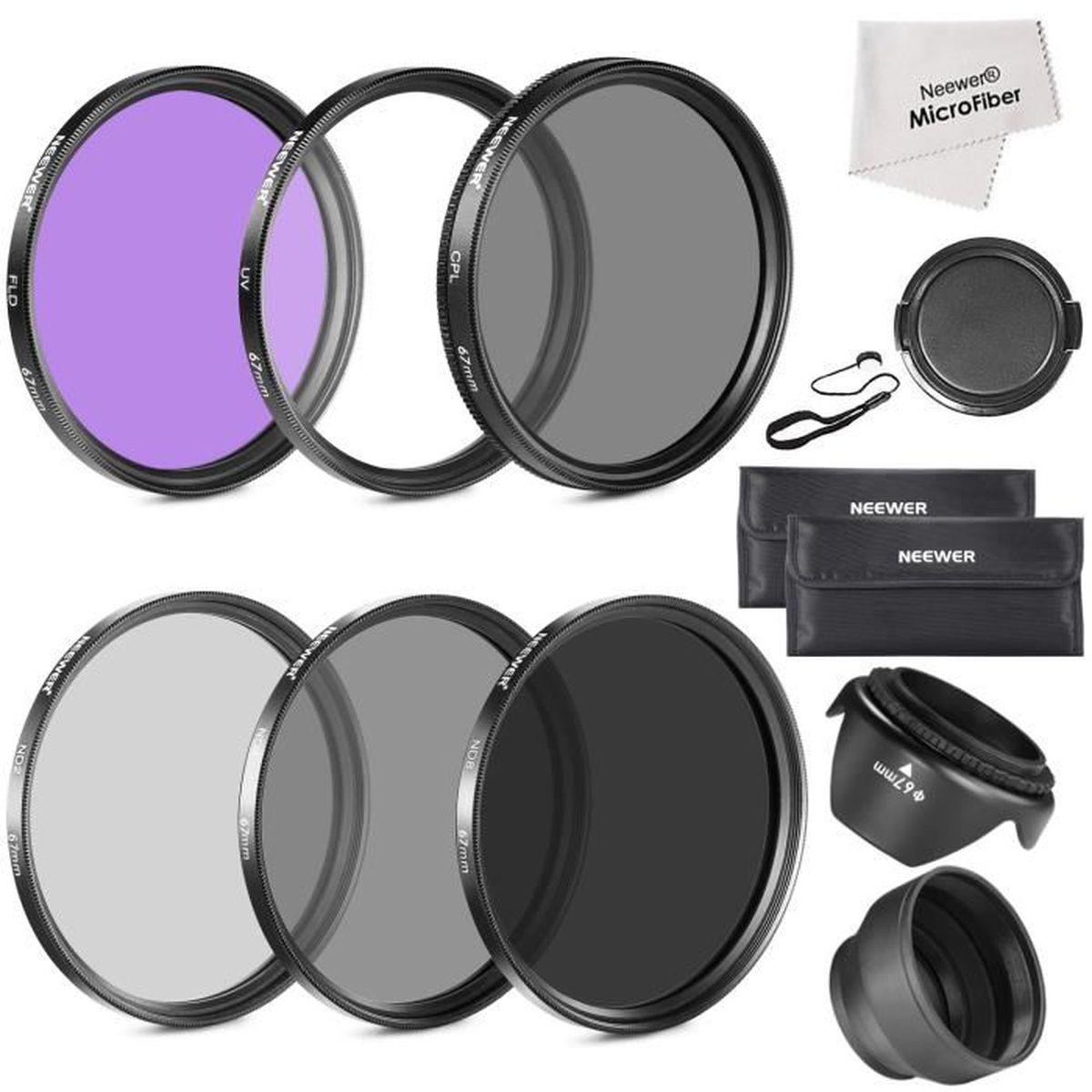 neewer 67mm kit de filtre d objectif accessoire pour canon eos appareils photo reflex achat. Black Bedroom Furniture Sets. Home Design Ideas