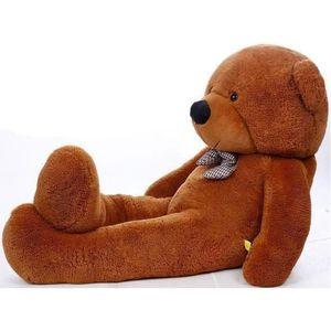 ours en peluche geant 100 cm achat vente jeux et jouets pas chers. Black Bedroom Furniture Sets. Home Design Ideas