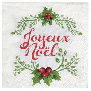 Serviette en papier noel achat vente serviette en - Papier cadeau noel pas cher ...