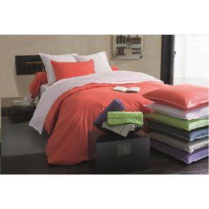housse de couette corail achat vente housse de couette corail pas cher cdiscount. Black Bedroom Furniture Sets. Home Design Ideas