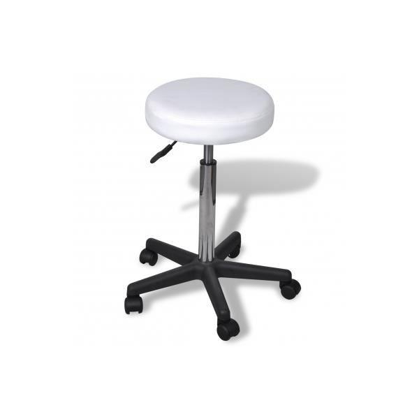 tabouret de bureau blanc achat vente chaise de bureau blanc cdiscount. Black Bedroom Furniture Sets. Home Design Ideas