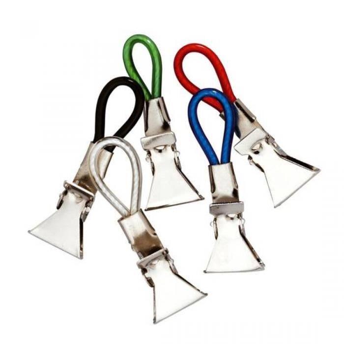 Les 5 pinces clips accroche tout torchon nappe memo for Accroche torchon cuisine