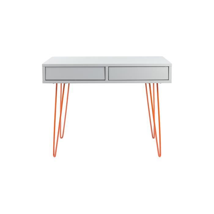 Bureau design oslo bureau gris fonc achat vente for Achat bureau design