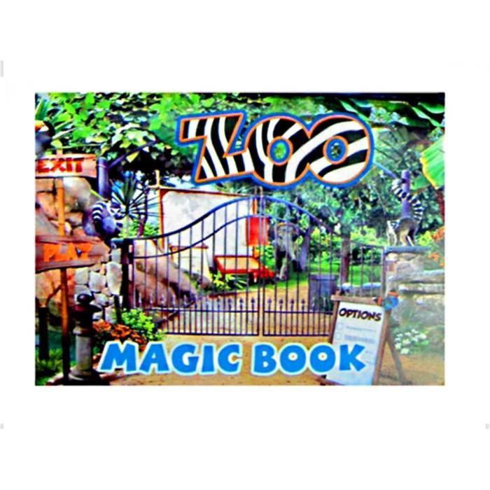 Livre magique zoo bouge la carte les animaux avancent - Livre illusion optique ...