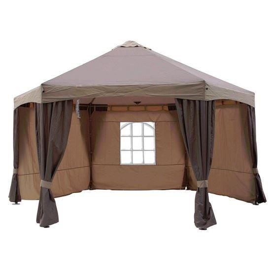 tonnelle luxe de jardin hexagonale achat vente. Black Bedroom Furniture Sets. Home Design Ideas
