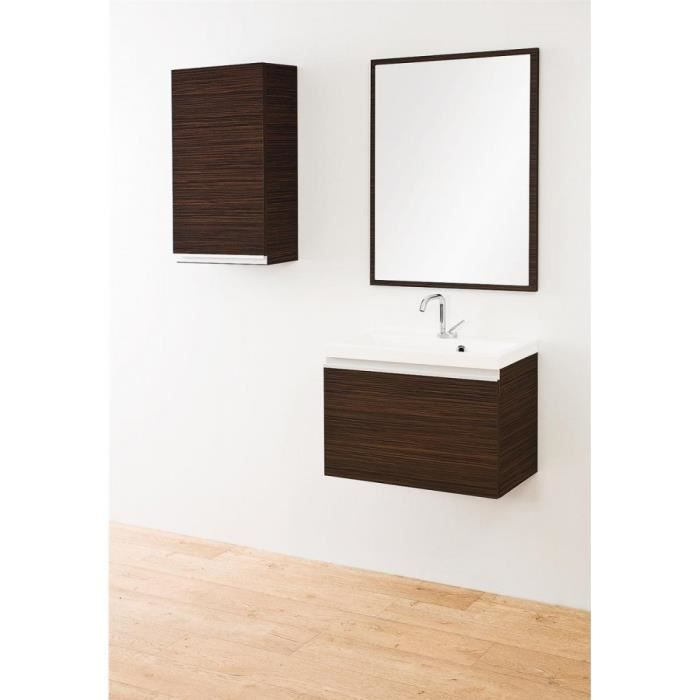 Justhome figo ensemble salle de bain zebrano fonc achat for Meuble zebrano