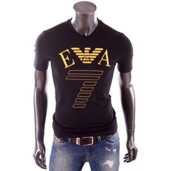 t shirt emporio armani ea7 homme manche courte noir achat vente t shirt cdiscount. Black Bedroom Furniture Sets. Home Design Ideas