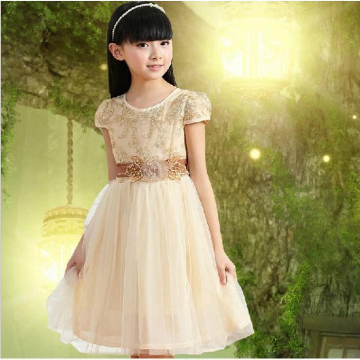 2015 nouveau v tements pour enfants fashion robe pour fille robe de princesse beige beige. Black Bedroom Furniture Sets. Home Design Ideas