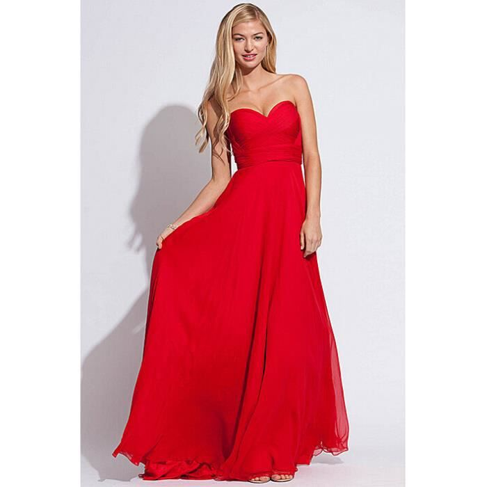 pour choisir une robe robe de soiree longue bustier rouge. Black Bedroom Furniture Sets. Home Design Ideas