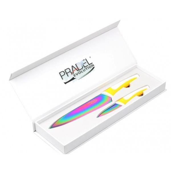 Coffret 2 couteaux titane multi pradel evolution achat vente couteau de cuisine coffret 2 - Pradel couteau cuisine ...
