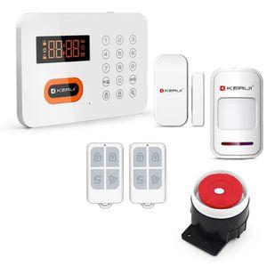 alarme maison kerui x1 sans fil t l phonique pstn 120 zone anti intrusion t l phone. Black Bedroom Furniture Sets. Home Design Ideas