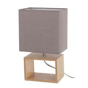 lampe de chevet bois achat vente lampe de chevet bois. Black Bedroom Furniture Sets. Home Design Ideas