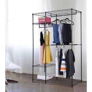 armoire penderie achat vente armoire penderie pas cher cdiscount. Black Bedroom Furniture Sets. Home Design Ideas
