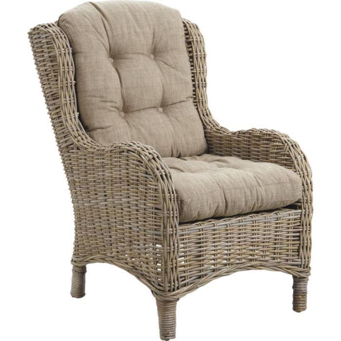 fauteuil connivence en poelet gris avec coussin achat vente fauteuil tissu 100 coton. Black Bedroom Furniture Sets. Home Design Ideas