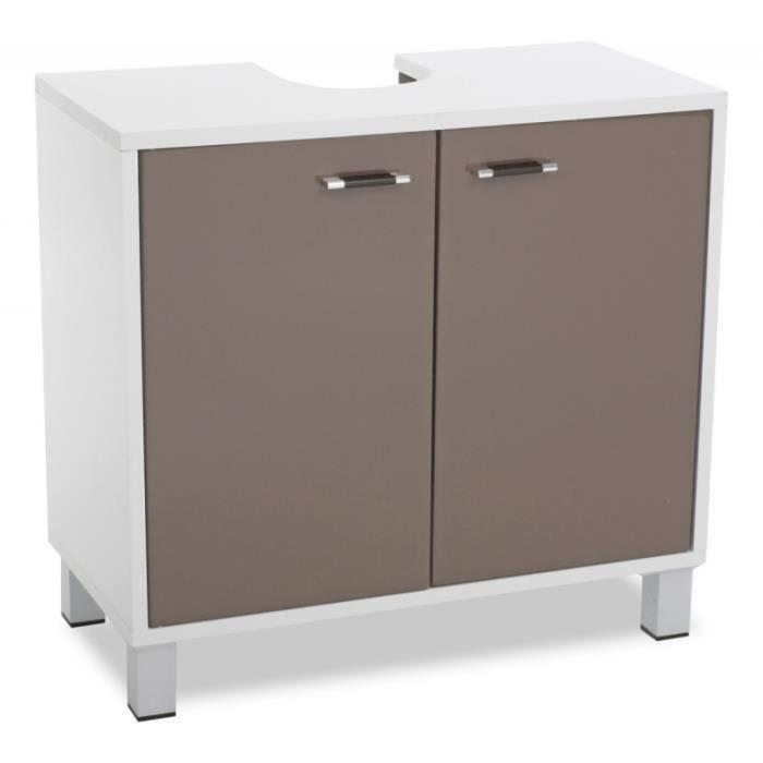 meuble dessous de lavabo taupe rangement salle de bain. Black Bedroom Furniture Sets. Home Design Ideas