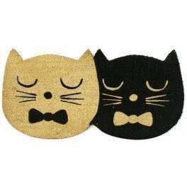 paillasson 2 chats noir et beige 40 x 80 cm achat vente paillasson cdiscount