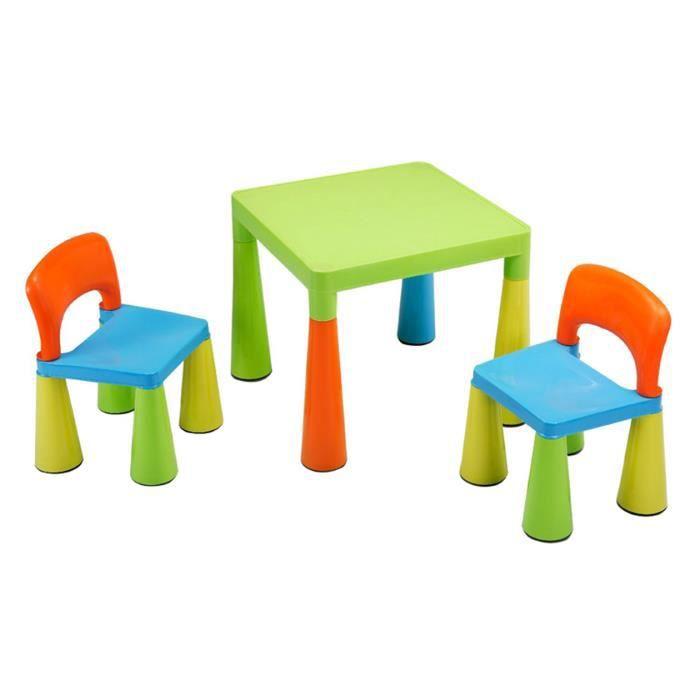 Table pour les enfants avec 2 chaises multi co achat for Table et chaise pour enfants