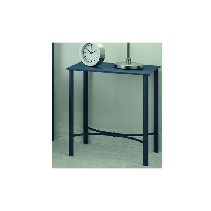 Chevet limbourg bleu coloris bleu achat vente chevet for Table de chevet bleu