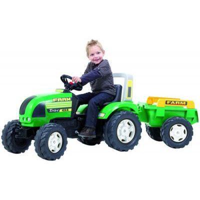 Tracteur vert farm trac avec remorque pour enfant achat vente tracteur chantier cdiscount - Tracteur remorque enfant ...