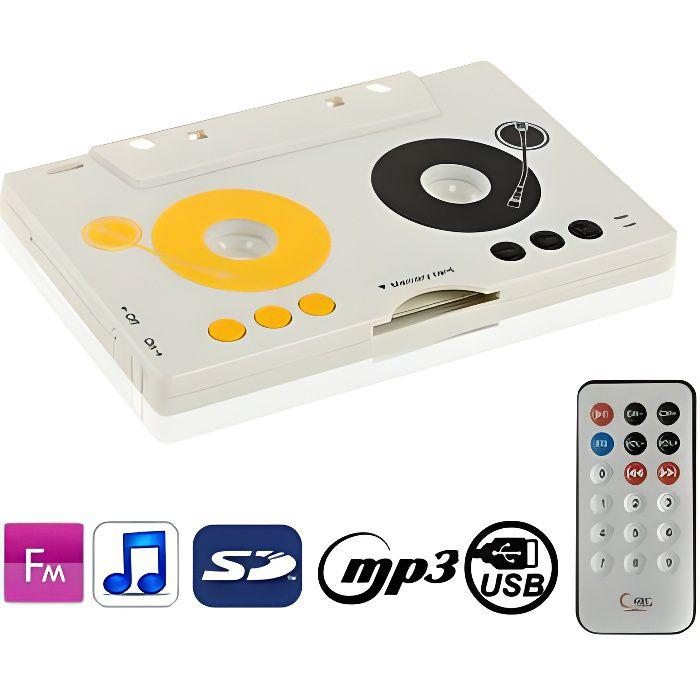 Lecteur Mp3 Portable Style Cassette Sd/Mm baladeur cd / cassette