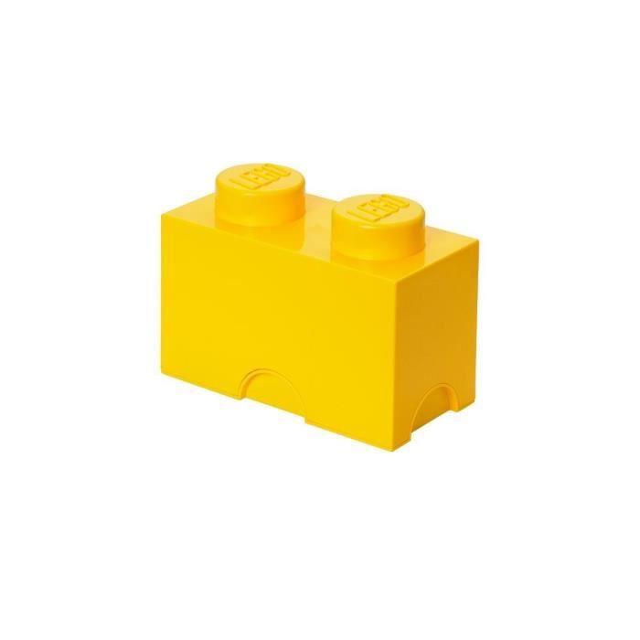 boite de rangement lego 2 plots jaune achat vente. Black Bedroom Furniture Sets. Home Design Ideas