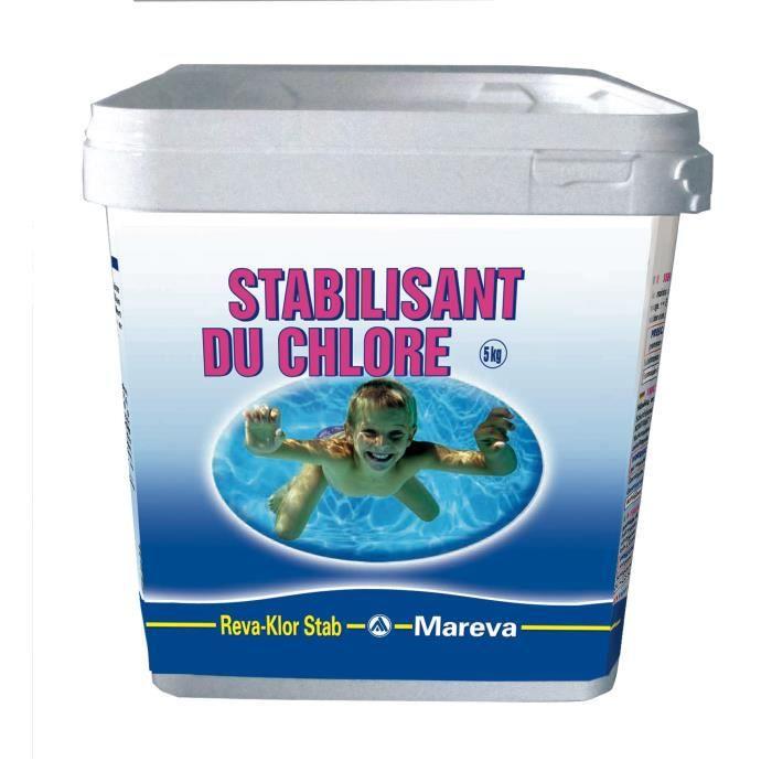 Stabilisant du chlore reva klor stab mareva achat for Consommation chlore liquide piscine