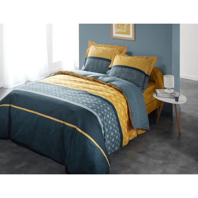 parure de lit topaz couleur bleu taille 220x240 achat vente parure de drap soldes. Black Bedroom Furniture Sets. Home Design Ideas