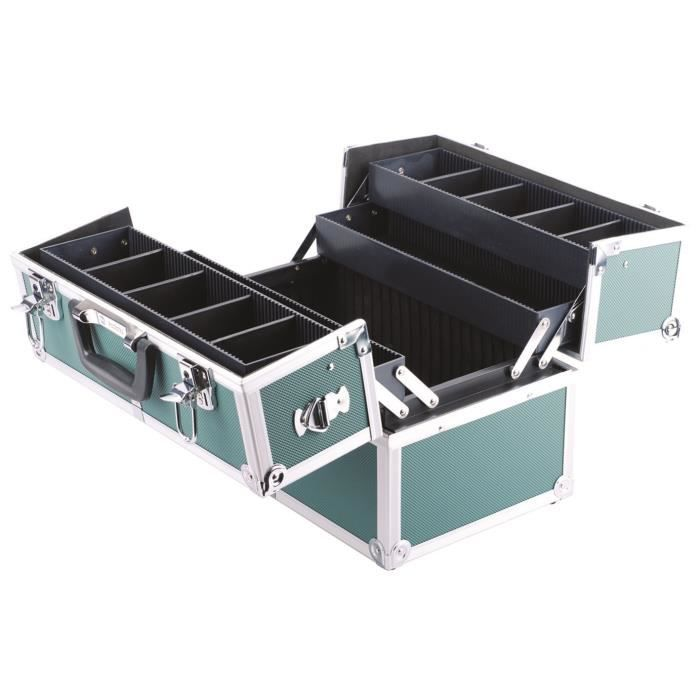 Valise en aluminium vide 360x220x250mm 2 cl s achat - Malette rangement outils vide ...