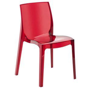 Chaises transparentes et bois achat vente chaises transparentes et bois p - Chaise transparente discount ...