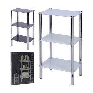 etagere verre salle de bain achat vente etagere verre salle de bain pas cher cdiscount. Black Bedroom Furniture Sets. Home Design Ideas