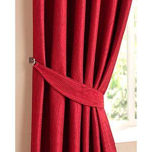 embrasse rideaux rouge achat vente embrasse rideaux rouge pas cher cdiscount. Black Bedroom Furniture Sets. Home Design Ideas