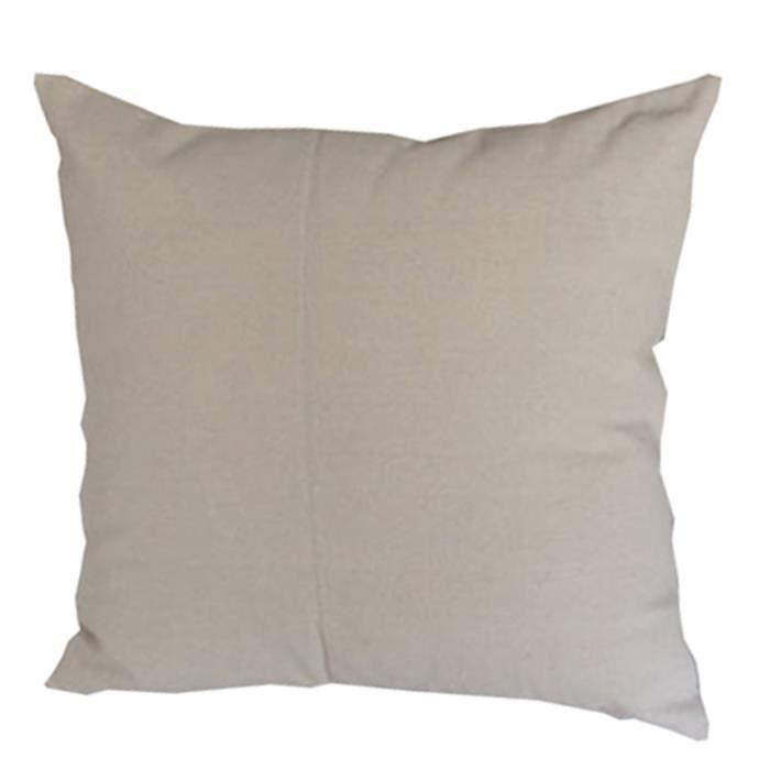 go4u maison canap d cor coton linen housse de coussin beige couleur unie taie oreille 45 45cm. Black Bedroom Furniture Sets. Home Design Ideas
