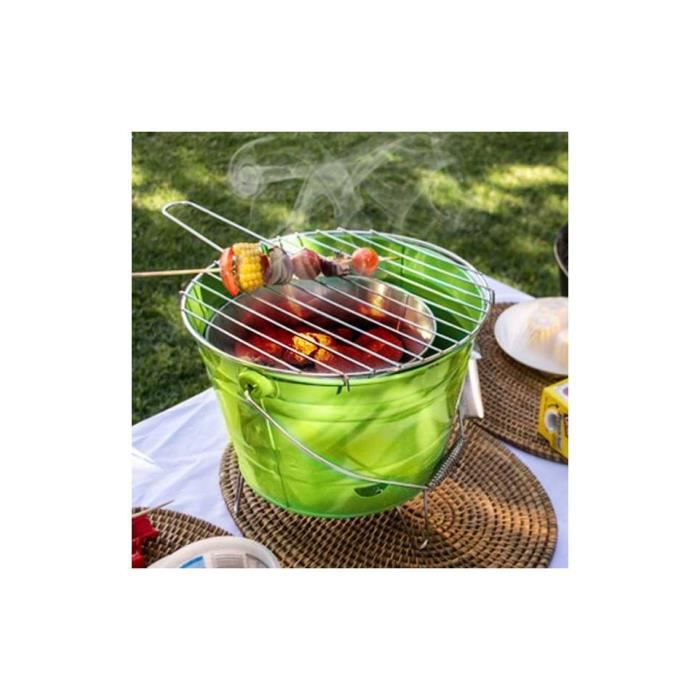 seau barbecue charbon ext rieur table camping achat vente barbecue seau barbecue charbon. Black Bedroom Furniture Sets. Home Design Ideas
