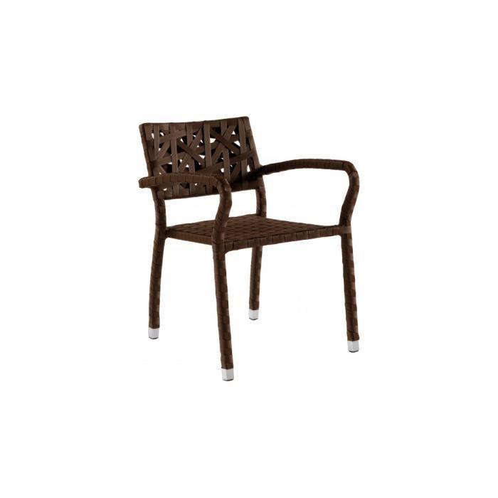 Fauteuil design r sine tress e maillage d structur achat vente chaise - Fauteuil exterieur resine ...