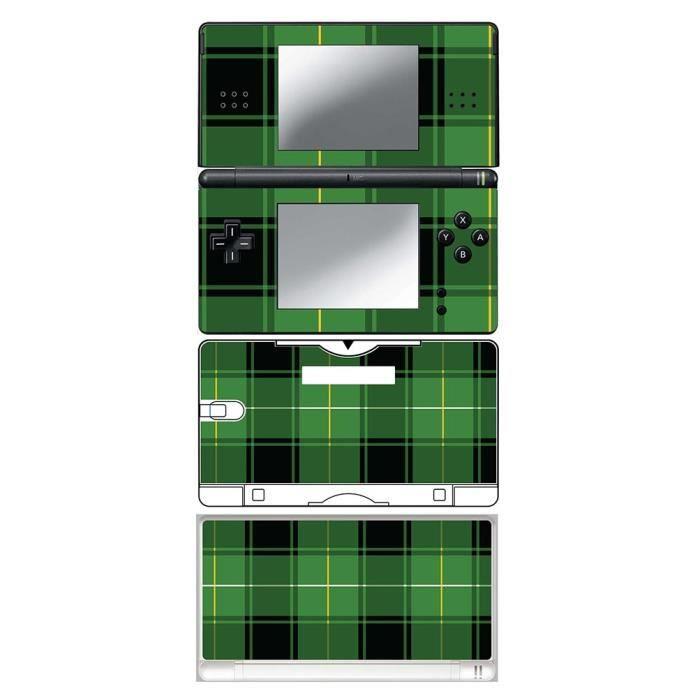 skin stickers pour nintendo ds lite sticker green tartan prix pas cher cdiscount. Black Bedroom Furniture Sets. Home Design Ideas