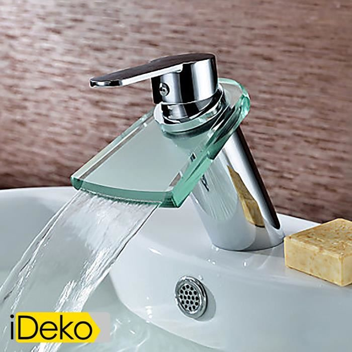 ideko robinet mitigeur de lavabo laiton contemporaine robinet d 39 vier en laiton salle de bains. Black Bedroom Furniture Sets. Home Design Ideas