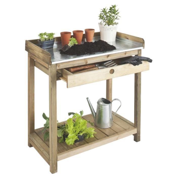 table de pr paration 1 tiroir bois autoclave achat vente table de rempotage table de. Black Bedroom Furniture Sets. Home Design Ideas