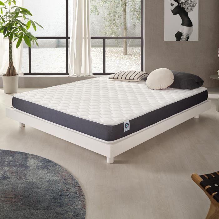 matelas ergolatex 90x200 cm blue latex 7 zones de confort 3701129936450 achat vente matelas. Black Bedroom Furniture Sets. Home Design Ideas