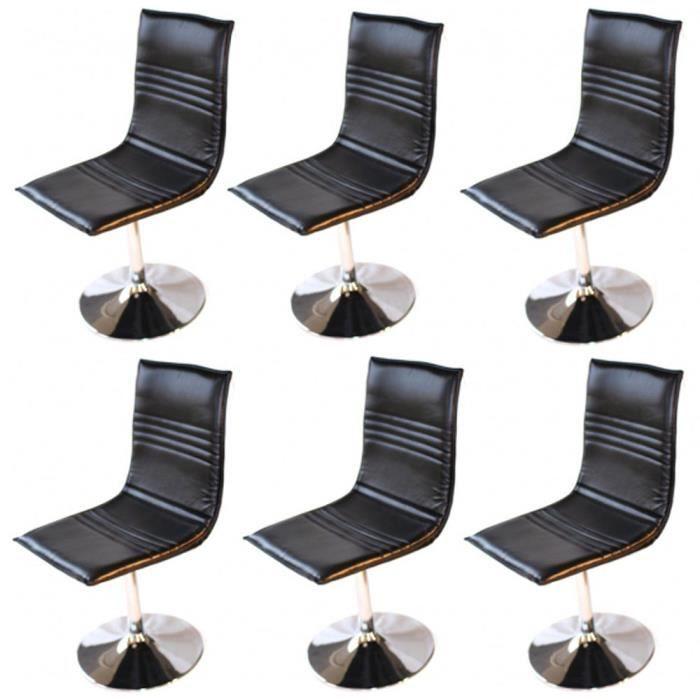 Lot de 6 chaises de salle manger foggia colo achat for Chaise de salle a manger soldes