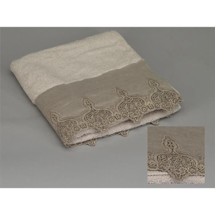 serviette bain en lin achat vente serviette bain en lin pas cher les soldes sur cdiscount. Black Bedroom Furniture Sets. Home Design Ideas