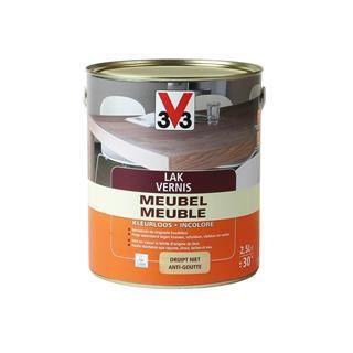 V33 vernis meuble incolore satin 0 50 l achat vente peinture vernis cdiscount for Peinture sur vernis bois