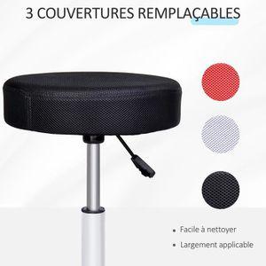 Tabouret rouge achat vente tabouret rouge pas cher cdiscount - Tabouret a roulette reglable en hauteur ...