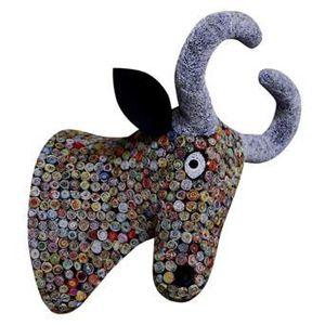 Taureau objet deco achat vente taureau objet deco pas for Decoration murale tete de taureau